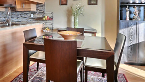Caligaris Italian dining set with 4 chairs