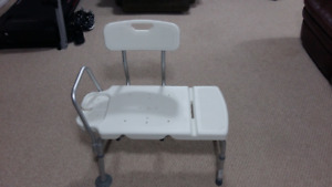 Extra Long White Bath Seat for in or out of the Tub. New Condit