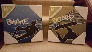 Skateboard canvas frames