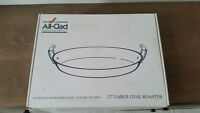 Oval All-Clad Stainless steel au gratin cooking and service dish