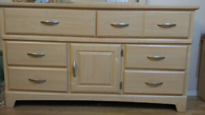 Dresser with mirror plus night table and twin bed excellent shap