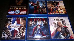 MARVEL BLU RAY FOR SALE IRON MAN THOR CAPTAIN AMERICA