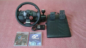 Logitech Driving Force Steering Wheel for PS3 or PS4