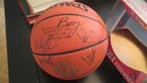RAPTORS 1995 -96  - FIRST YEAR  team signed ball !!!