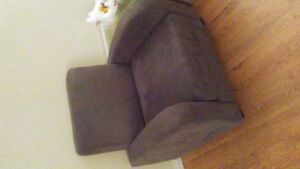 Grey single couch