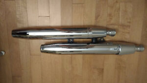 MODIFIED V Star 1100 Vstar Exhaust MUFFLERS. Awesome sound !!!