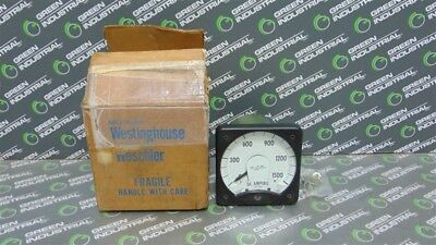 New Westinghouse Kx-241 Dc Amp Meter 0-1500 Amperes