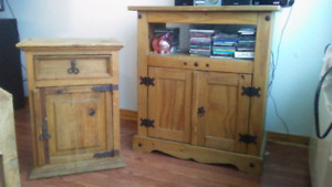 Mexican style Tv stand and small table stand