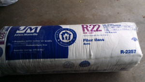 Johns Manville (2 X 6) R22 Fiber Glass Batts insulation ( 1 bag)