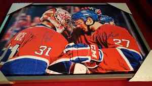 Carey price Alex galchenyuk signed and framed canadiens canvas