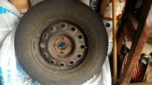 Goodyear Nordic winter tires 195/70/R14 with steel rims(4x100) Kitchener / Waterloo Kitchener Area image 5