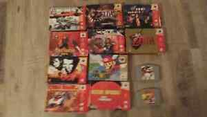 N64 Games with Boxes Nintendo 64 SNES NES