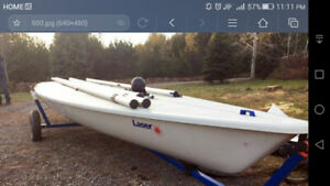 2010 Laser in race ready condition. WITH mk2 sail, trailer, doll