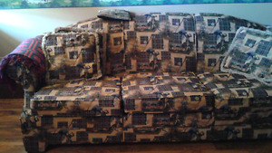 Golf Print Couch and Loveseat