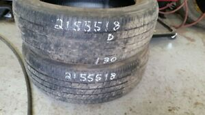 Pair of 2 Firestone Champion Fuel Fighter 215/55R18 tires (50% t