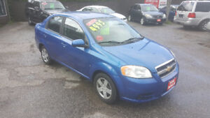 2010 CHEVROLET AVEO SEDAN *** LOW KM *** CERTIFIED $4995