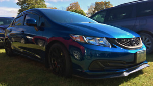 LOWER PRICE ** MODDED 2013 Blue Honda Civic - ONLY 50K KM