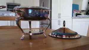 Silver plated chafing dish with warmer