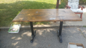 Solid wood utility table