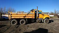 Bobcat and dump truck for hire