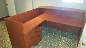 Desk with 2 lockable draws with file cabinets