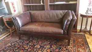 Crate and barrel leather couch