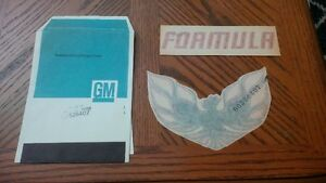 Pontiac Firebird N.O.S. decals