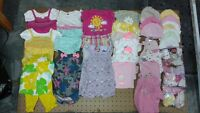 baby girl clothes newborn, 0-3 months and 3 months