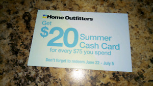 Trade Home Outfitter cash card