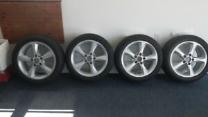BMW 128i RIMS AND TIRES WITH ALL-SEASON  RUN-ON-FLAT TIRES