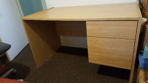 Laminated particle board  desk with 2 drawers