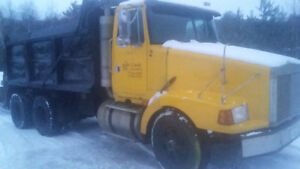 Volvo tandem dump truck