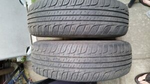 2 Summer tires with rims P195/70 R14