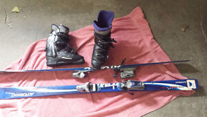 Womens Boots, skis and bindings...