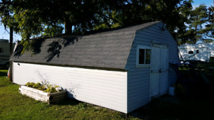 14'x24' insulated shed.