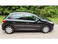 Peugeot 207 1.6HDi 92 FAP,ACTIVE, METALLIC BLACK,5 DOOR, LOW MILES,NEW MOT