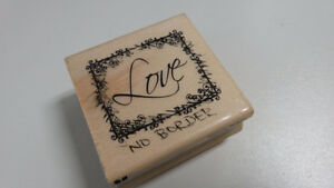 Love rubber stamp - no border - used