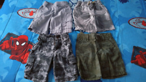 4 pairs of boys shorts 3T