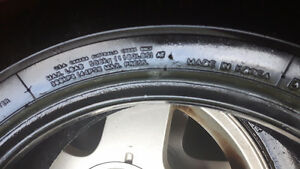 P175/70R14 84T 4 summer tires and 1 spare tube Cambridge Kitchener Area image 2