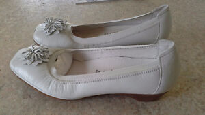 White leather dress shoes