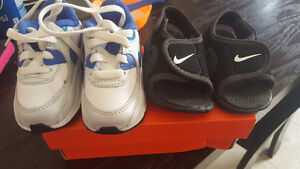 Nike sandals and nike air max shoes infants size 3