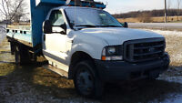 2004 FORD F550 SD DIESEL DUMP FOLD DOWN SIDES&PLOW