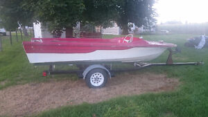 Runabout Project Boat with Good Trailer