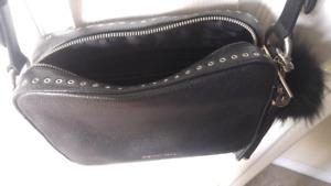 Michael kors Authentic Black Leather cross body purse