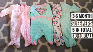 Baby girl 3m - 6-12m clothes