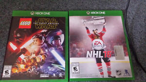 NHL 16 and Lego Star Wars the force awakens