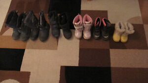 Winter shoes for kids (girls ) ranging from size 8 to size 13
