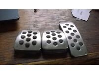 2008 VAUXHALL ASTRA ALLOY PEDAL COVERS ALUMINUM SET SXI