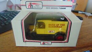 Hard to Find Home Hardware Diecast Bank, Series 1 Number 1