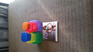 Beach body 21 day fix containers and dvds